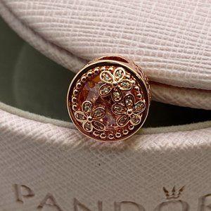 PANDORA Sparkling Pink Daisy Flower Charm